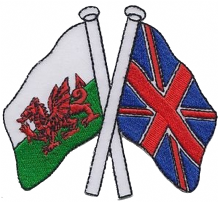 Wales & United Kingdom UK Friendship Embroidered Patch A291